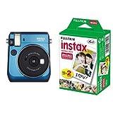 FUJIFILM インスタントカメラ チェキ instax mini70 ブルー + チェキ用フィルム 20枚入 セット