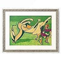 エルンスト・ルートヴィヒ・キルヒナー Ernst Ludwig Kirchner 「Reiterin mit gesturztem Pferd」 額装アート作品