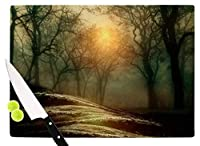 "KESS InHouse VG1028ACB01 Viviana Gonzalez""From Small Beginnings And Big"" Green Nature Cutting Board, 11.5 x 8.25"", Multi [並行輸入品]"