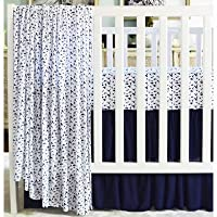 Oliver B Navy 3-piece Dove Crib Bedding Set, White [並行輸入品]