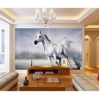 Wuyyii カスタム壁紙3D写真壁画油絵馬のリビングルームの寝室の背景壁紙3D壁画 - 350×250 Cm