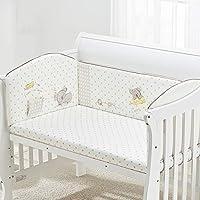 Rart ベッドレール, 赤ちゃんの寝具の設定 無衝突保育園ゆりかご装飾 ベビーベッド寝具のソフト クッション安全プロテクター-C 110x60cm(43x24inch)