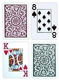 Copag ポーカーサイズジャンボインデックス1546トランプ(グリーンバーガンディ柄)
