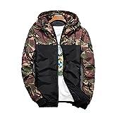 防風 登山メンズ 軽量 迷彩 ジャケット メンズ ナイロンジャケット パーレジャーファッション アウトドア メンズ アーミーグリーン-2XL