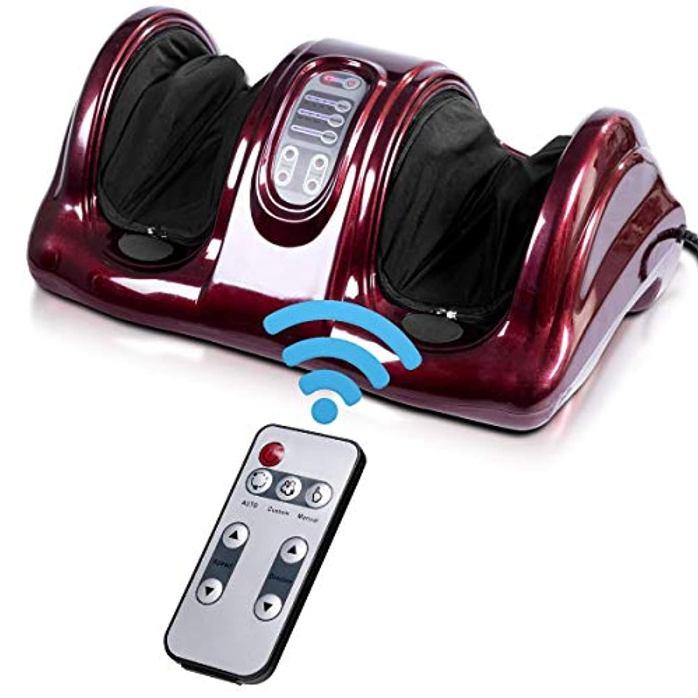 概念安全なセレナ[Giantex][Giantex Foot Massager Machine Massage for Feet, Chronic Nerve Pain Therapy Spa Gift Deep Kneading Rolling Massage for Leg Calf Ankle, Electric Shiatsu Foot Massager w/ Remote, Burgundy](Parallel Imported Goods) (Burgundy)