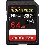 CABOLEZA SDHCカード64GB デジタルカメラ用のカードClass 10 HIGH SPEED UHS-I 超高速UHS-1 U3 対応 速度95MB/s耐温度、防水、耐磁、耐X線、静電耐性 (国内正規品)