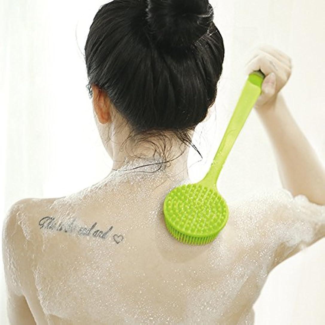 真鍮強調動かないボディブラシ シャワーブラシ お風呂用 シリコン製 体洗い マッサージブラシ 毛穴洗浄 角質除去 多機能 柔らかい