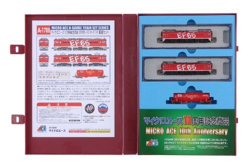 Nゲージ 車両セット EF65レインボー重連セット「マイクロエース10周年記念」(3両) A-1788