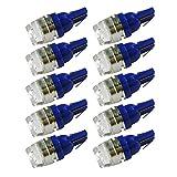 【10個】T10 T16 LED クリスタルガラス ブルー ポジション バックランプ テールランプ ウインカー ルームランプ ナンバー灯【ALA】