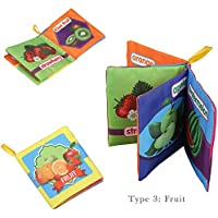 Chiak 新ベビー 早期教育 知的 開発 布製しわのファブリックブック 知育玩具 形状 & 色分け 11.5 x 9.5cm/4.5 x 3.7inch (L x W) LPM001202_3#