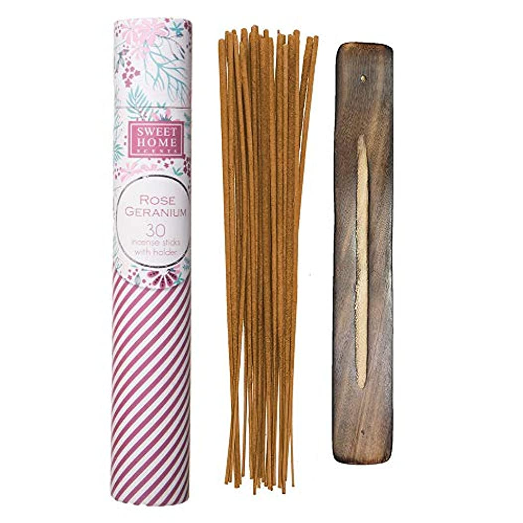 ピン集団的なんでもSweet Home Scents プレミアムスパ お香 30本 木製ホルダー付き ギフト包装用チューブ入り