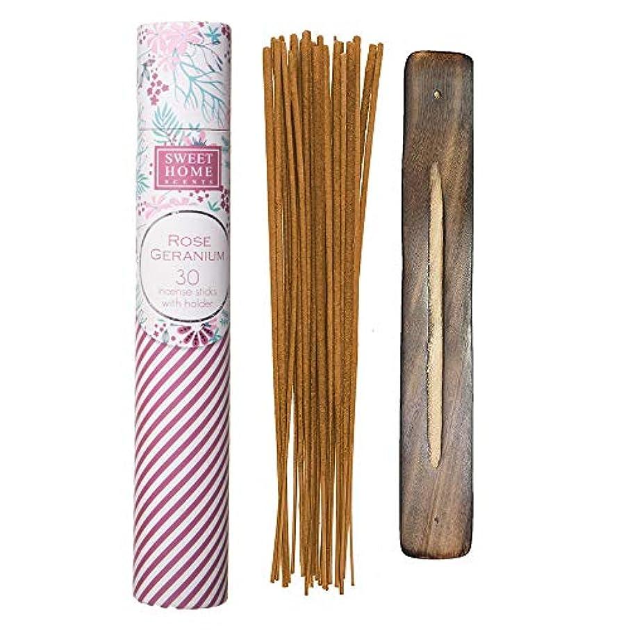 シャンプー前兆熟考するSweet Home Scents プレミアムスパ お香 30本 木製ホルダー付き ギフト包装用チューブ入り