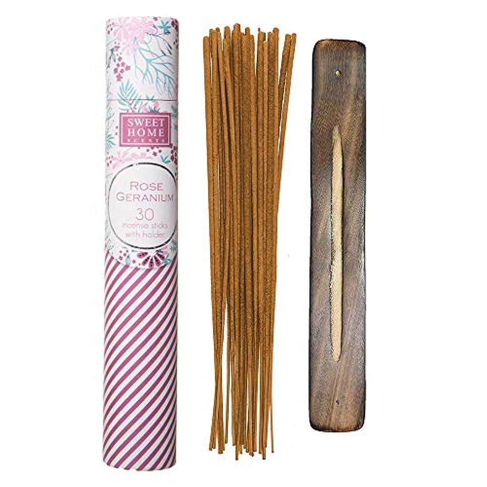 ファッション酸素ラウンジSweet Home Scents プレミアムスパ お香 30本 木製ホルダー付き ギフト包装用チューブ入り