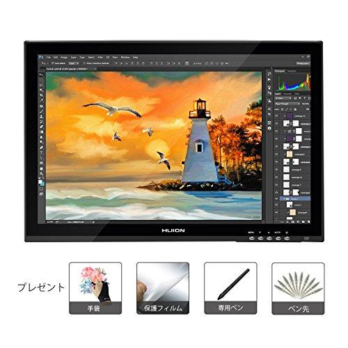 Huion 液タブ 液晶ペンタブレット GT-190 19インチ  2048レベル  WindowsとMacに両方対応