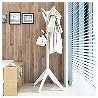 ハンガーラック 立ちコートラック高169センチ純木ホール木廊下寝室リビングルームコートスタンド洋服ラック服帽子スカーフ傘スタンド多機能収納ラック - /SUA ONG (色 : 白)