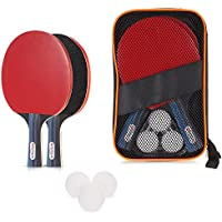 Ametoys 卓球 ラケットセット シェイクハンド ピンポンの球3個入り 貼り上がり プラスチックボール 職場 で手軽にピンポン