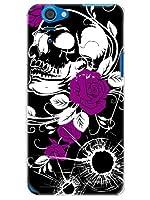 SHL23 ケース カバー AQUOS PHONE SERIE au スカルと薔薇 ラグジーイニシャルC