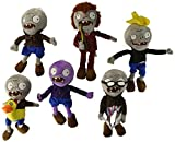 Set of 6 Zombie Plush Plants vs Zombies Toys Doll 28cm Ducky Tube Zombies,Conehead Newspaper Zombies,Zombie Purple Grey,Dancing Zombie by Meilaier [並行輸入品] 画像