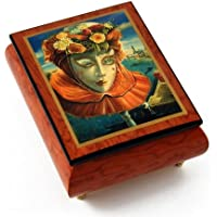 Festive Painted Ercolano音楽ボックスというタイトルのカーニバル/ベネチアンマスクの思い出の夏 437. With One Look (From Sunset Blvd) - SWISS MALG902EL