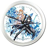 ソードアート・オンライン キリト&アスナ 壁掛け時計 クロック 直径約25cm 並行輸入品