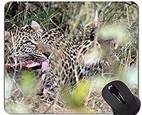 賭博のマウスパッドの習慣、ステッチされた端が付いている南アフリカのヒョウのマウスパッド