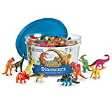 Learning Resources Dinosaur Counters, Set of 60 Colored Dinosaurs