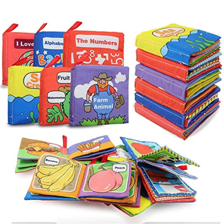布絵本 布えほん 子供絵本 布の絵本 知育玩具 破れない 英語 ソフトブック ベビー用品 赤ちゃん 布のおもちゃ(六本セット)