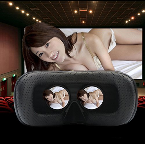 VRSHINECONVRメガネ3Dゴーグル頭部装着4-6インチのスマホ適用G-VR002(黒二代)