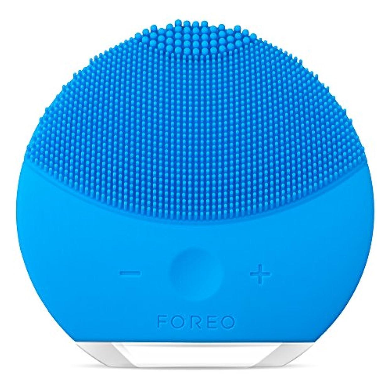 作成する方法論ホイップFOREO LUNA mini 2 アクアマリン 電動洗顔ブラシ シリコーン製 音波振動