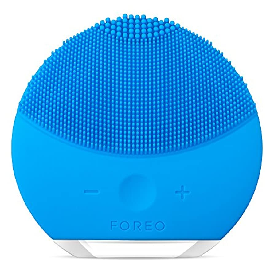 お世話になったリアル退化するFOREO LUNA mini 2 アクアマリン 電動洗顔ブラシ シリコーン製 音波振動