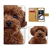 Tiara iPhone7 Plus 5.5 iPhone7Plus スマホケース 手帳型 犬 いぬ イヌ ペット トイプードル 手帳ケース カバー [E026603_04]