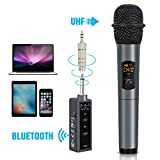 Tonor ワイヤレス マイク ハンド型 Bluetoothレシバー付き UHF 無線マイク 10チャネル カラオケマイク ホームパーティー 大活躍