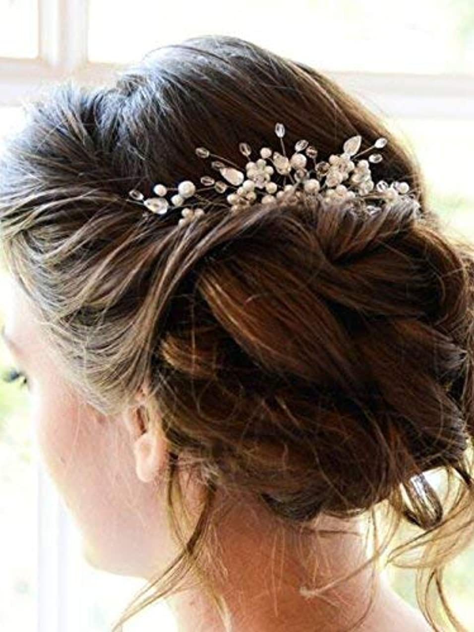 フィドルマルコポーロ飢えMissgrace Bridal Vintage Hair Comb Bridal Headpiece Bridal Hair Piece Wedding Hair Piece Wedding Headpiece Wedding...