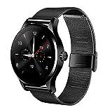 K88H Smart Watch スマートウォッチ Bluetooth 4.0 歩数計 心拍計 睡眠モニター 長座注意 遠隔カメラ リモート音楽 着信通知 紛失防止 Android /IOS/日本語対応