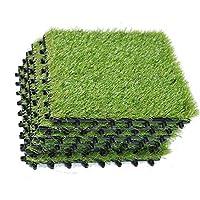 ecomatrix人工芝生タイルPP酷使Grassデッキタイル、FAKE GRASS TURFタイル、1' x1'
