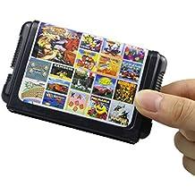 ちば れいこ(Boboque) 18 in 1 ゲームカード ゲームソフト for セガ ジェネシスゲーム カートリッジ 内蔵18ゲーム クラシック 人気 ゲーム MDモードで ゲームカセット