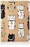 [祐馬工芸] 6Pカード・保険証入り 福あつめ 招き猫シリーズ 日本製 綿100% 白