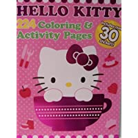 Hello Kitty Foil Cover Colouring & Activity Book with Over 30 Stickers Kitty in Teacup