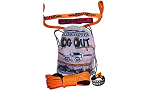 BOG OUT Single PRO PACK BOG OUT Vehicle Recovery Kit - TURNS WHEELS INTO WINCHES - 7T Twin Pack - 2 x BOG OUT + 1 x 15mtr Super Rope Extension + 2 x 4.5T Soft Shackles + 2 x 2T Connector Ties for complete 4x4 recovery in Mud, Sand & Snow WORKS Forwards AND Reverse