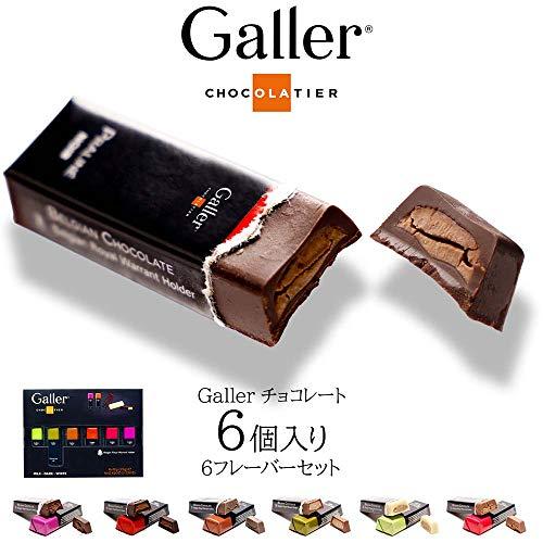 Galler(ガレー) チョコレート ベルギー王室御用達 ガレ チョコバー 高級チョコレート ギフト 6本セット/6フレーバー [並行輸入品]