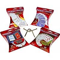Magic Card Tricks Decks _ Bundle of 4 Unique Trick Decks