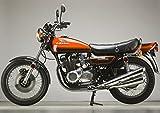 絵画風 壁紙ポスター (はがせるシール式) カワサキ 900RS Z1 バイク キャラクロ KZ2-003A2 (A2版 594mm×420mm) 建築用壁紙+耐候性塗料
