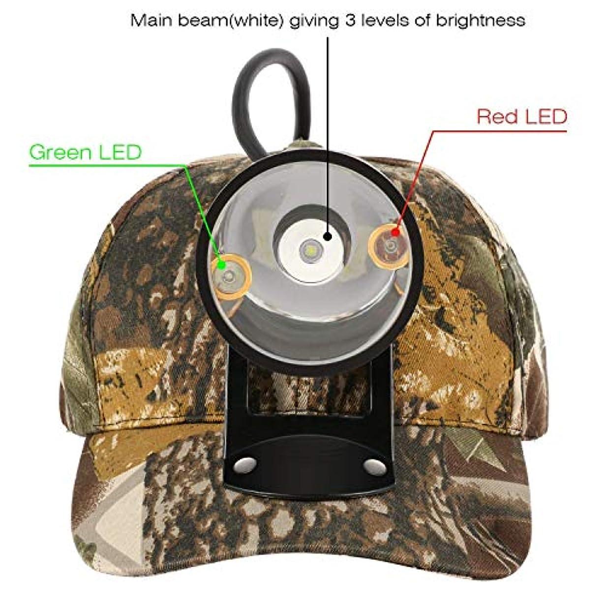 哲学その間傷跡[Kohree][Kohree CREE 80000 LUX LED Coyote Hog Coon Hunting Light, Rechargeable Predator Hunting, 3 LED Cap Light, 5 Position Switch, Multiple Colors (White Red Green) + Soft Cap](並行輸入品)