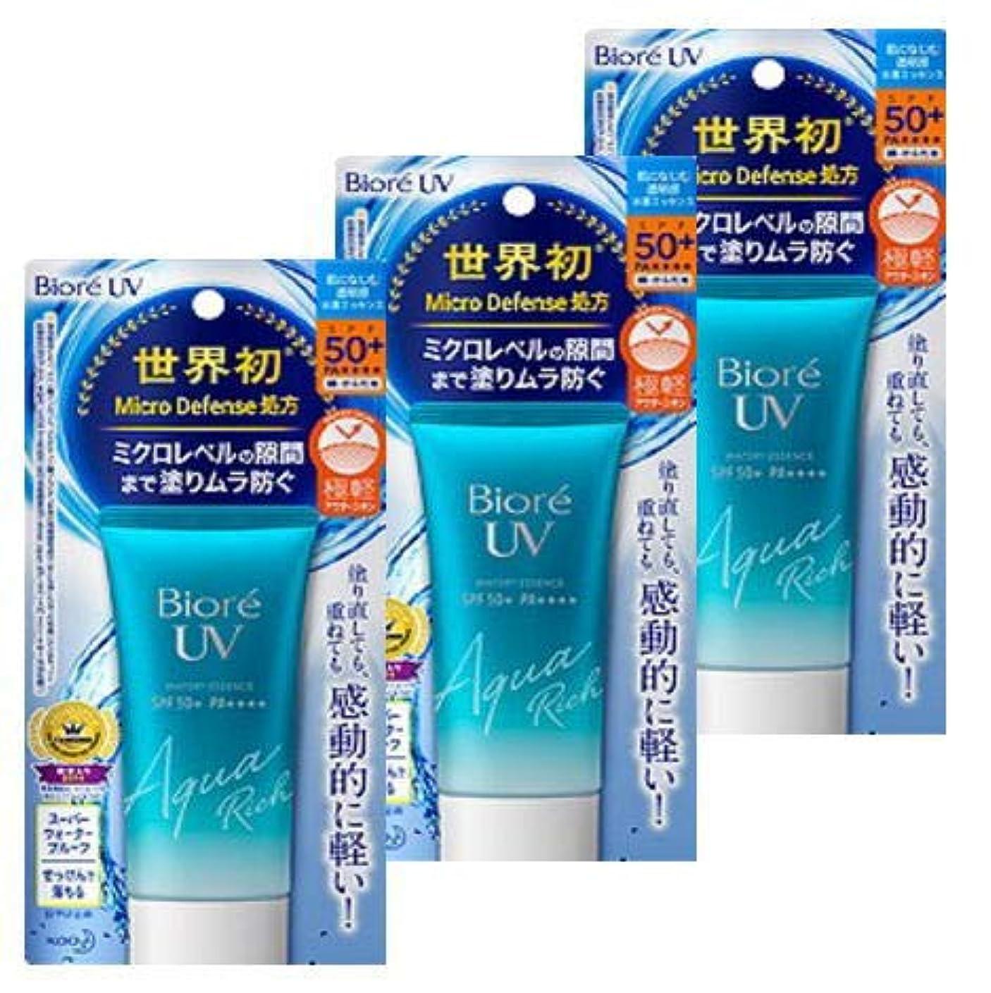 時期尚早リテラシー平凡【まとめ買い】ビオレ UV アクアリッチ ウォータリーエッセンス SPF50+ 50g ×3個