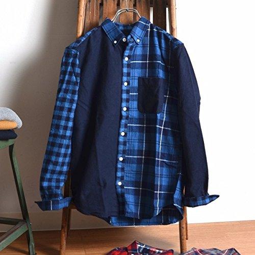 シップス ジェット ブルー(SHIPS JET BLUE) SHIPS JET BLUE: クレイジーパターン BDネルシャツ【ブルー/SMALL】