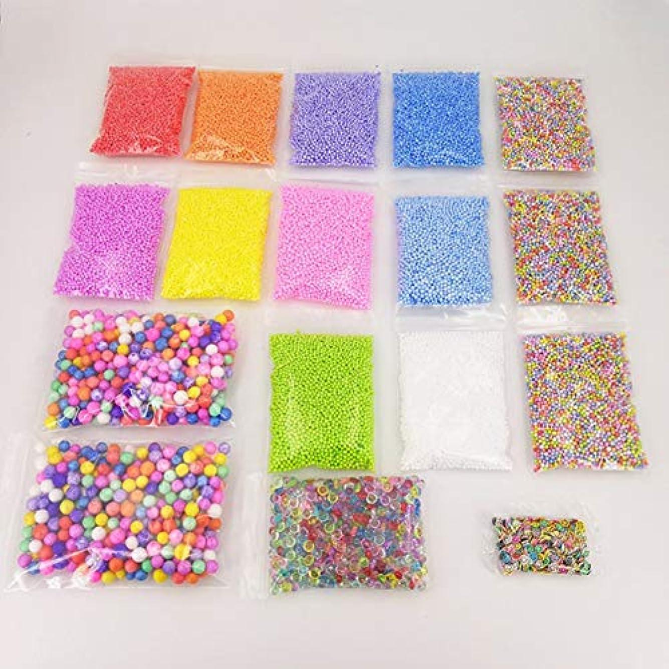泥チャネル削除するSaikogoods 17パックスライムビーズ 金魚鉢ビーズ 発泡ボール ソフトクレイのためのフルーツスライス スライム作りキット DIYの工芸品 ホームデコレーション 多色