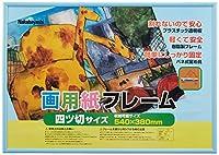 ナカバヤシ 樹脂製(PVC)画用紙フレーム・四ツ切サイズ フ-GFP-201 (B)ブルー・840367