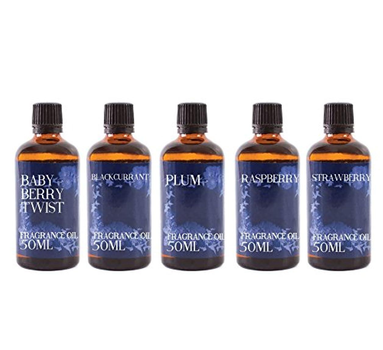 違反するベッドを作る夫婦Mystic Moments | Gift Starter Pack of 5 x 50ml Wild Fruits Fragrant Oil