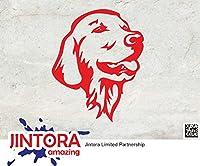 JINTORA ステッカー/カーステッカー - Siberian Husky Chef - シベリアンハスキーシェフ - 88x109mm - JDM/Die cut - 車/ウィンドウ/ラップトップ/ウィンドウ- 赤