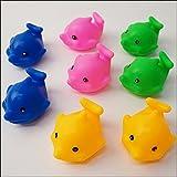 水に浮くすくい用おもちゃ ぷかぷかピヨピヨイルカさん 50個【動物 すくい景品 縁日】  2726